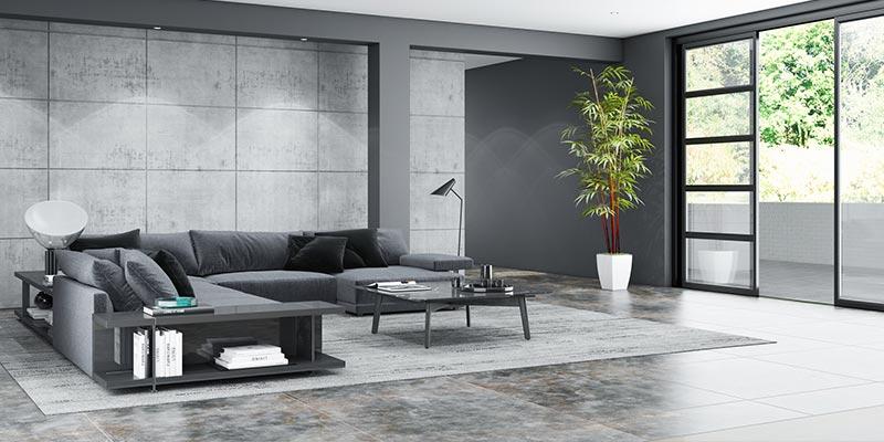 Fliesen Wohnzimmer modern